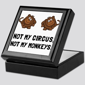 Circus Monkeys Keepsake Box