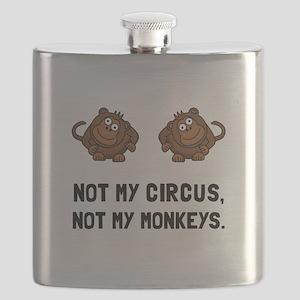 Circus Monkeys Flask