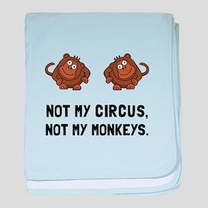 Circus Monkeys baby blanket