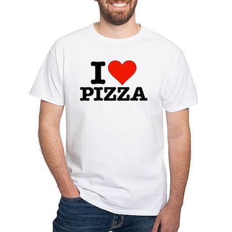 """""""I heart Pizza"""" White T-Shirt"""