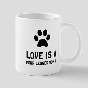 Four Legged Word Mugs