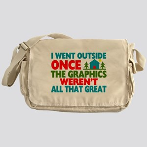 Went Outside Graphics Weren't Great Messenger Bag