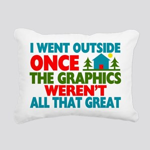 Went Outside Graphics We Rectangular Canvas Pillow