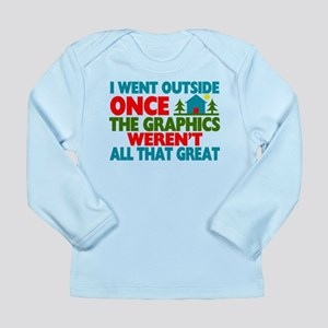 Went Outside Graphics W Long Sleeve Infant T-Shirt