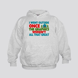 Went Outside Graphics Weren't Great Kids Hoodie