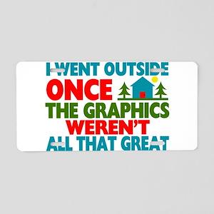 Went Outside Graphics Weren Aluminum License Plate