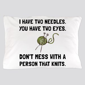 Person That Knits Pillow Case