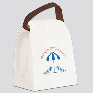 Loungin By The Pool Canvas Lunch Bag