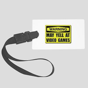 Warning Yell At Video Games Luggage Tag