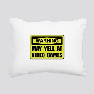 Warning Yell At Video Games Rectangular Canvas Pil