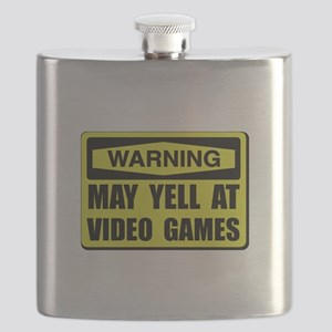 Warning Yell At Video Games Flask