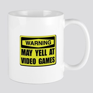Warning Yell At Video Games Mugs