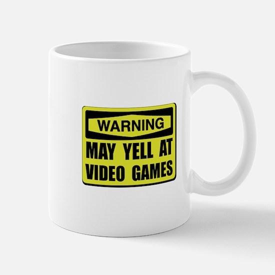 Warning Yell At Video Games Mugs