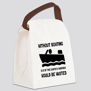 Without Boating Canvas Lunch Bag