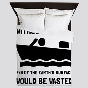 Without Boating Queen Duvet