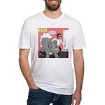 Rhino Helper Animal Fitted T-Shirt