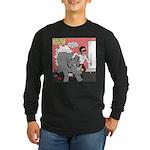 Rhino Helper Animal Long Sleeve Dark T-Shirt