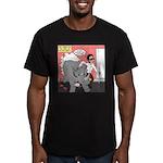 Rhino Helper Animal Men's Fitted T-Shirt (dark)