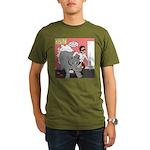 Rhino Helper Animal Organic Men's T-Shirt (dark)