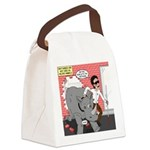 Rhino Helper Animal Canvas Lunch Bag