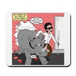 Rhino Helper Animal Mousepad