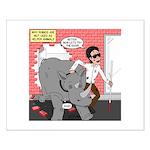 Rhino Helper Animal Small Poster