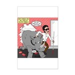 Rhino Helper Animal Mini Poster Print