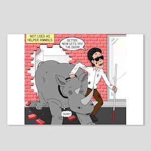 Rhino Helper Animal Postcards (Package of 8)