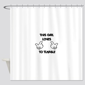 This Girls Loves to Tumble Shower Curtain