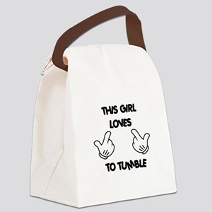 This Girls Loves to Tumble Canvas Lunch Bag