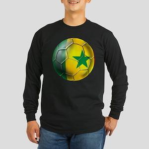 Senegal Football Long Sleeve Dark T-Shirt