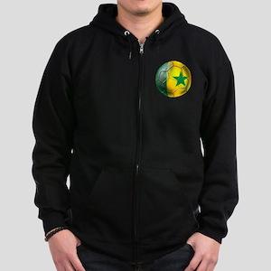 Senegal Football Zip Hoodie (dark)