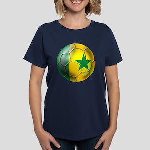 Senegal Football Women's Dark T-Shirt