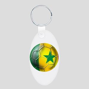 Senegal Football Aluminum Oval Keychain Keychains