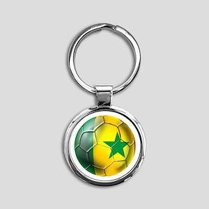 Senegal Football Round Keychain Keychains
