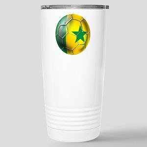 Senegal Football Stainless Steel Travel Mug