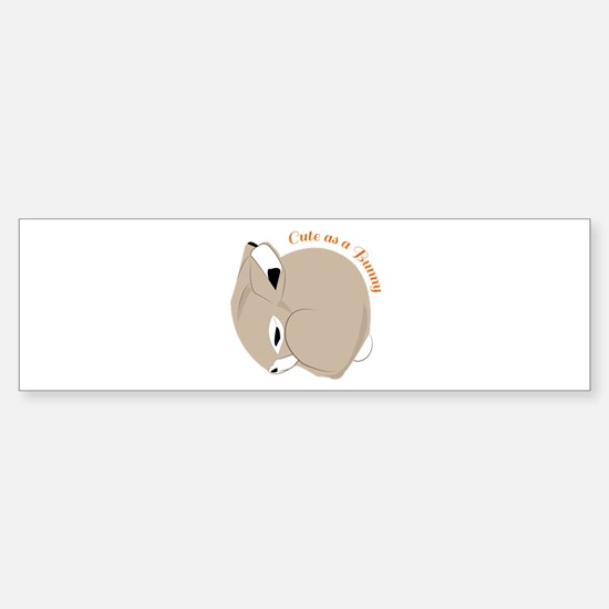 Cute As A Bunny Bumper Car Car Sticker