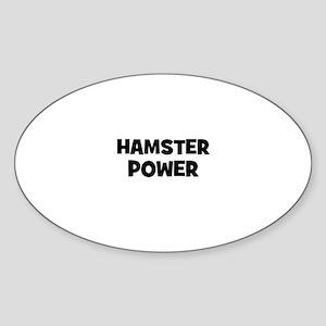 hamster power Oval Sticker