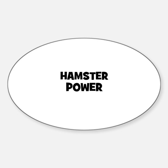 hamster power Oval Decal