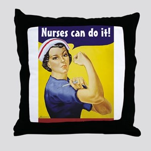 Nurses Can Do it! Throw Pillow