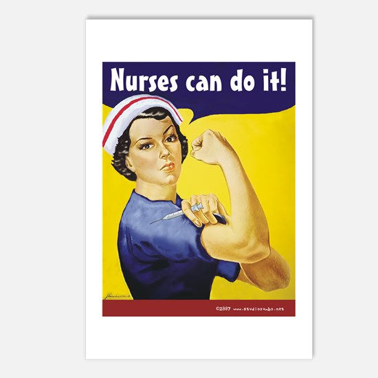 Nurses Can Do it! Postcards (Package of 8)