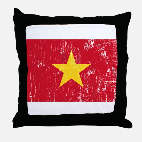 Vintage Vietnam Throw Pillow