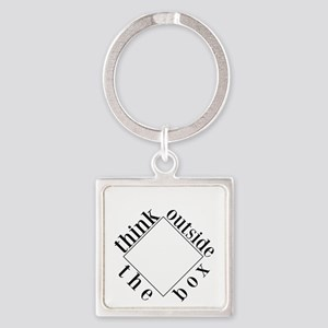 Think Outside the Box Square Keychain