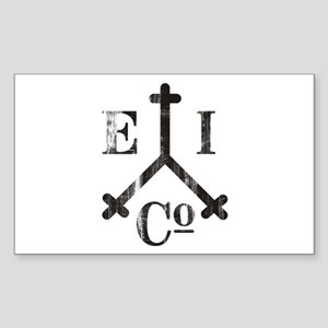 East India Trading Company Logo Sticker (Rectangul
