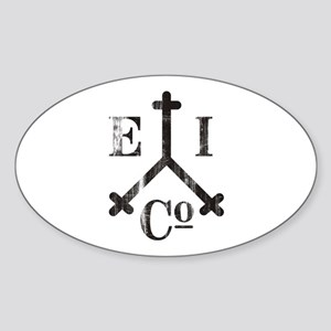 East India Trading Company Logo Oval Sticker