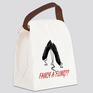 fancy a fling Canvas Lunch Bag