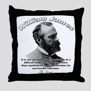 William James 07 Throw Pillow