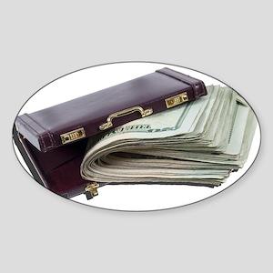 Lots of Money in Briefcase Sticker
