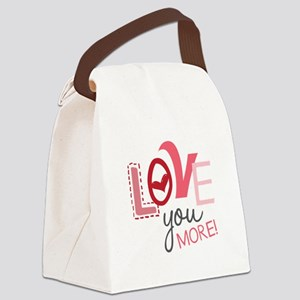 Love You More! Canvas Lunch Bag