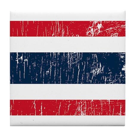 Vintage Thailand Tile Coaster